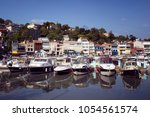view of boats and yachts at...   Shutterstock . vector #1054561574