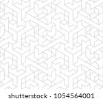 abstract geometric pattern with ... | Shutterstock .eps vector #1054564001