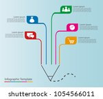 abstract pencil shaped... | Shutterstock .eps vector #1054566011