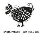 Woodcut Bird Illustration