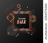 seasonal sale background with... | Shutterstock .eps vector #1054574204