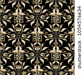 gold greek key seamless pattern.... | Shutterstock .eps vector #1054576634