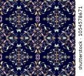 damask seamless pattern. vector ... | Shutterstock .eps vector #1054578671