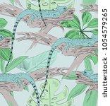 tropical seamless vector... | Shutterstock .eps vector #1054579265
