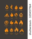 flame icons | Shutterstock .eps vector #105457964
