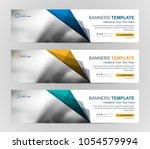 abstract web banner design... | Shutterstock .eps vector #1054579994