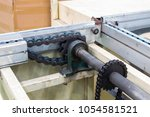 conveyor chain drive shaft... | Shutterstock . vector #1054581521