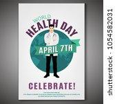 world health day concept. 7... | Shutterstock .eps vector #1054582031