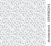 vector lace texture  curly... | Shutterstock .eps vector #1054582241