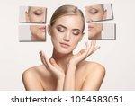 comparison. portrait of... | Shutterstock . vector #1054583051