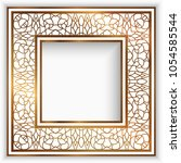 square photo frame with gold... | Shutterstock .eps vector #1054585544