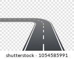 segment of asphalt road with... | Shutterstock .eps vector #1054585991