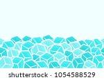ice cubes  seamless vector... | Shutterstock .eps vector #1054588529