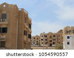 houses in the city of dahab. | Shutterstock . vector #1054590557