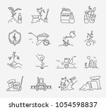 fertilizer icons set. vector... | Shutterstock .eps vector #1054598837