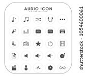 audio icons  | Shutterstock .eps vector #1054600061