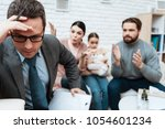 family psychologist was tired... | Shutterstock . vector #1054601234