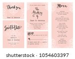 save the date card  wedding... | Shutterstock .eps vector #1054603397