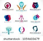 psychology  human brain ... | Shutterstock .eps vector #1054603679
