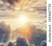 beautiful blue sky background...   Shutterstock . vector #1054607735
