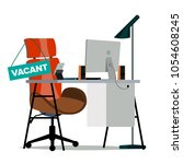 vacancy concept vector. office... | Shutterstock .eps vector #1054608245