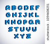 vector font  typescript created ... | Shutterstock .eps vector #1054608251