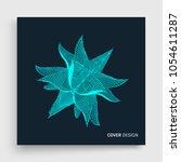crystal. cover design template. ... | Shutterstock .eps vector #1054611287
