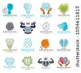 brain and intelligence vector... | Shutterstock .eps vector #1054611815