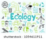 hand drawn design vector... | Shutterstock .eps vector #1054611911