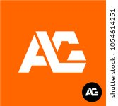 letters a and g ligature logo....   Shutterstock .eps vector #1054614251