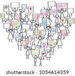 vector illustration of stick... | Shutterstock .eps vector #1054614359