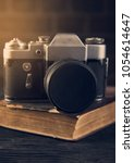 toning old book camera blur and ... | Shutterstock . vector #1054614647