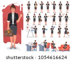 businesswoman character... | Shutterstock .eps vector #1054616624