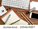 workplace composition with...   Shutterstock . vector #1054619897