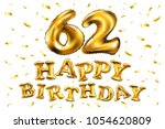 vector happy birthday 62th... | Shutterstock .eps vector #1054620809