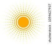 blank orange abstract banner of ... | Shutterstock .eps vector #1054627937