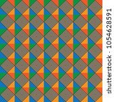 dizzy hologram square geometric ... | Shutterstock .eps vector #1054628591