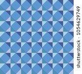 dizzy blue square geometric... | Shutterstock .eps vector #1054629749