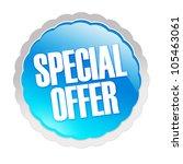 special offer sticker  ... | Shutterstock . vector #105463061