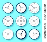 set of different clock icons in ... | Shutterstock .eps vector #1054630805