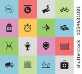 set of 16 editable mixed icons. ...