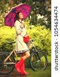 fashion. style. beautiful woman ... | Shutterstock . vector #1054634474