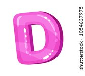 d pink glossy bright english... | Shutterstock .eps vector #1054637975