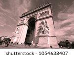 paris  france october 19  the... | Shutterstock . vector #1054638407