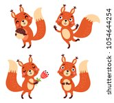 Stock vector squirrel vector character 1054644254