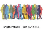 vector illustration with... | Shutterstock .eps vector #1054645211