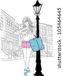 street style | Shutterstock .eps vector #105464645