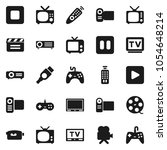 flat vector icon set   cinema... | Shutterstock .eps vector #1054648214