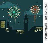 enjoy the firework illustration | Shutterstock .eps vector #1054648751