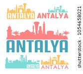 antalya turkey flat icon... | Shutterstock .eps vector #1054658021